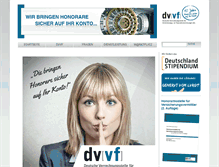Tablet Preview of dvvf.de